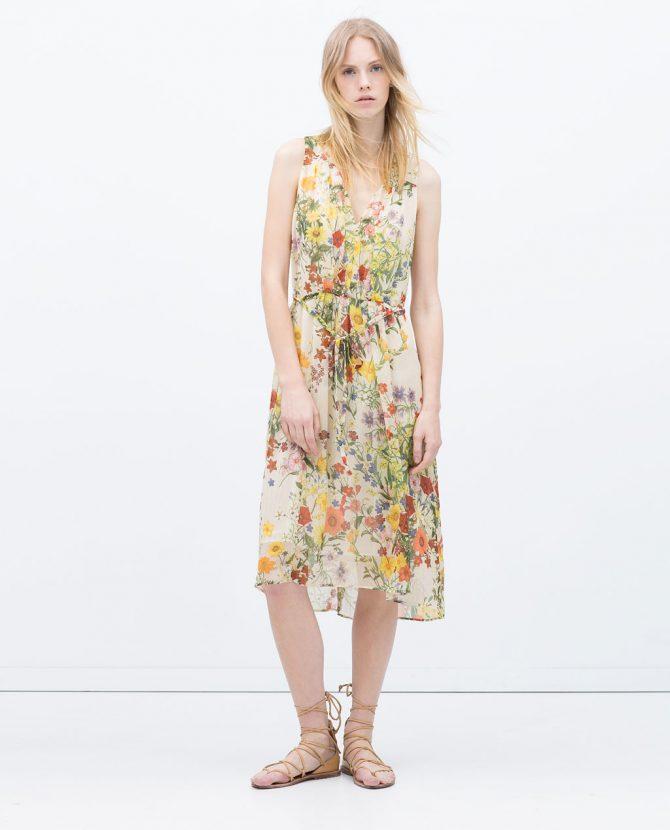 sukienki w kwiaty zara