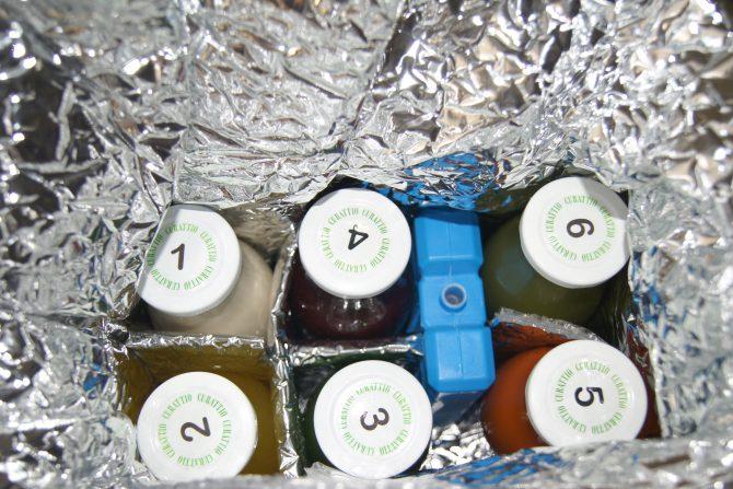 soki zapakowane tak, że dotarły zimne :)