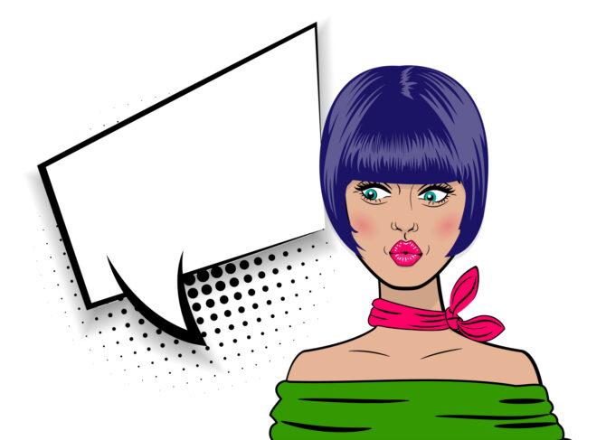 liliowe włosy